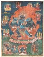 普巴金刚唐卡 -  - 佛像唐卡 - 2007春季艺术品拍卖会 -收藏网