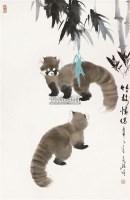 竹枝情侣 立轴 纸本 - 10384 - 保真作品专题 - 2011春季书画拍卖会 -收藏网