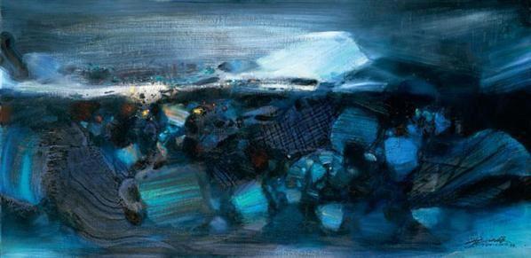 朱德群 结构蓝 - 119074 - 中国当代艺术(一) - 2007春季拍卖会 -收藏网