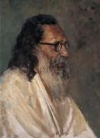 诗人 木板 油画 - 李宗津 - 中国油画及雕塑(上) - 2008春季拍卖会 -收藏网