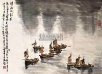 清流帆影 镜片 - 李可染 - 中国书画 - 2011年春季艺术品拍卖会 -中国收藏网