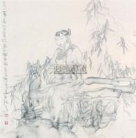 人物 镜心 设色纸本 - 谭崇正 - 中国书画 - 2008秋季艺术品拍卖会 -收藏网