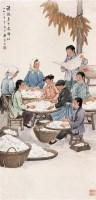 郑慕康 1964年作 选种图 立轴 设色纸本 - 郑慕康 - 中国书画(一) - 2006秋季艺术品拍卖会 -中国收藏网