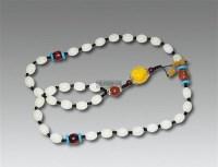 白玉项链蜜蜡坠 -  - 古董珍玩 - 2012迎春艺术品拍卖会 -收藏网