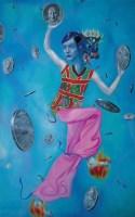 硬币之一 布面 油画 - 156667 - 名家西画 当代艺术专场 - 2008年春季拍卖会 -收藏网