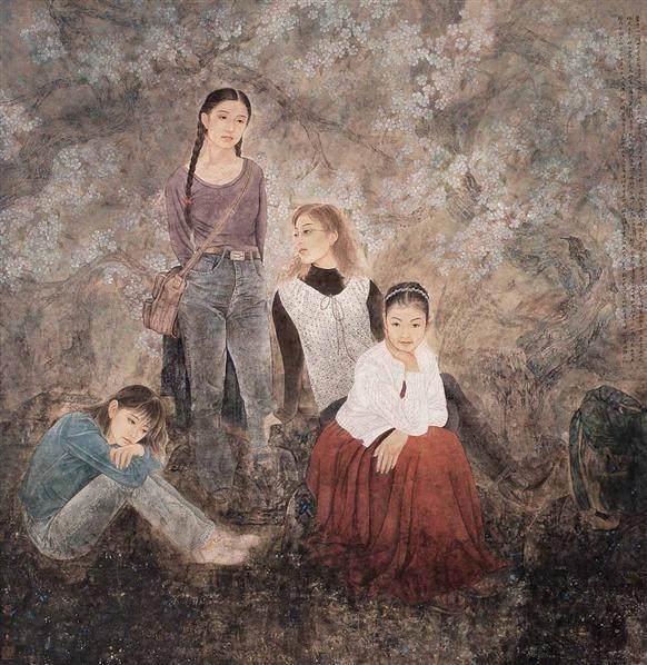 史维静 觅春 镜心 设色纸本 -  - 当代中国书画(一) - 2006畅月(55期)拍卖会 -收藏网