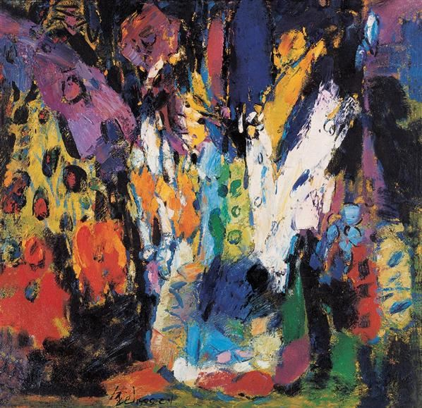 金纪发 1999年作 彩韵系列之三 布上油画 - 158325 - 中国西画 - 2006秋季拍卖会 -收藏网