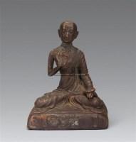 清 铜上师像 -  - 妙音天籁-佛教艺术品 - 2006年秋(十周年)拍卖会 -收藏网