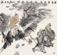 诗意图 镜心 设色纸本 - 梁占岩 - 当代中国书画 - 2006金秋拍卖会 -收藏网