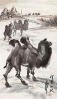 驼铃声声 镜片 设色纸本 - 119122 - 书画 - 2011年拍卖会 -收藏网