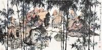竹林七贤 立轴 纸本 - 毛国伦 - 名家翰墨专场 - 2011秋季拍卖会 -收藏网