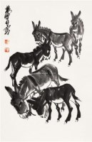 五驴图 立轴 纸本 - 7693 - 中国书画(一) - 2011春季艺术品拍卖会(一) -收藏网