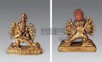18世纪 铜镀金大威德金刚像 -  - 雪域佛光 - 2007年秋季艺术品拍卖会 -收藏网