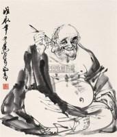 弥勒佛 立轴 水墨纸本 - 黄胄 - 中国书画(二) - 2009新春书画(第63期) -收藏网