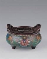 铜胎掐丝珐琅炉 -  - 瓷器玉器工艺品 - 2005青岛夏季艺术品拍卖会 -中国收藏网