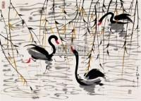 鹅 镜片 纸本 - 吴冠中 - 中国书画 - 2011当代艺术品拍卖会 -收藏网