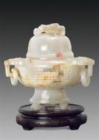 白玉螭钮三耳三足炉 -  - 古董珍玩 - 2012迎春艺术品拍卖会 -收藏网