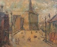 乍浦路桥 布面 油画 - 张充仁 - 中国油画 - 2006秋季大型艺术品拍卖会 -收藏网
