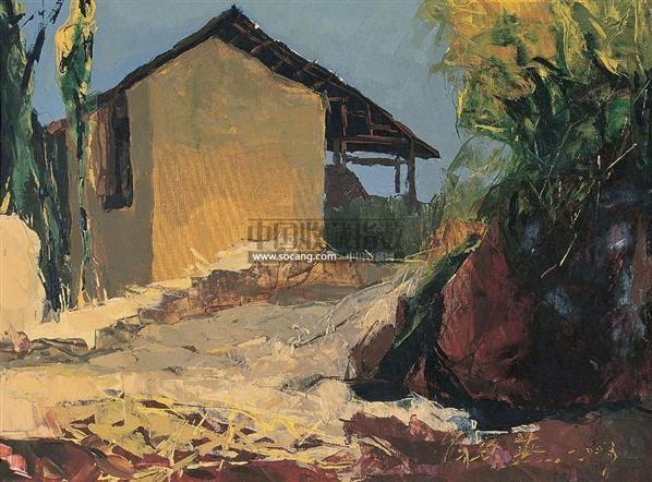 城村 布面 油画 - 137440 - 中国油画 雕塑影像 - 2006广州冬季拍卖会 -收藏网