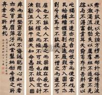 魏碑体书法 屏条 纸本 - 张伯英 - 中国书画(一) - 2006年秋季艺术品拍卖会 -中国收藏网