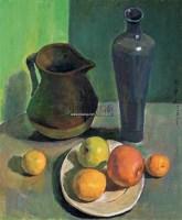 水果花瓶 布面油画 - 158395 - 油画专场 - 2006迎春首届大型艺术品拍卖会 -中国收藏网