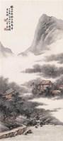 听雨茅屋 立轴 设色纸本 - 祁昆 - 中国书画 - 2007春季拍卖会 -收藏网