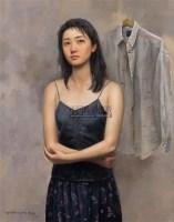 灰色衬衣 布面油彩 - 140645 - 中国油画(一) - 2006年中国艺术品春季拍卖会 -收藏网