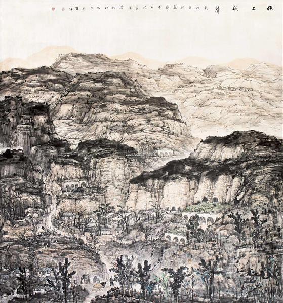 山水 镜片 设色纸本 - 128461 - 中国书画(一) - 五周年秋季拍卖会 -收藏网