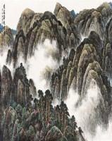跑马梁起云图 镜片 - 8015 - 中国书画(一) - 2011秋季书画拍卖会 -收藏网