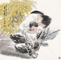 姐弟俩 软片 - 5448 - 中国书画(二) - 2011秋季书画拍卖会 -收藏网