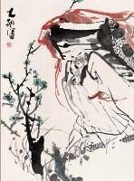 赏梅图 立轴 设色纸本 - 程大利 - 中国书画 - 四季拍卖会(第58期) -收藏网