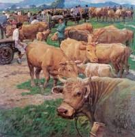 张广志 2000年作 牛市 布上油画 - 132516 - 中国西画 - 2006秋季拍卖会 -收藏网