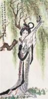 琵琶女 立轴 设色纸本 - 薛林兴 - 中国书画 - 第117期月末拍卖会 -中国收藏网
