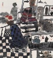 张修竹 月过中秋 镜心 设色纸本 - 128914 - 中国书画 - 2006年秋季拍卖会 -收藏网