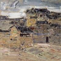 城村古舍 布面油画 - 毛岱宗 - 中国西画及漆画 - 2007秋季拍卖会 -收藏网