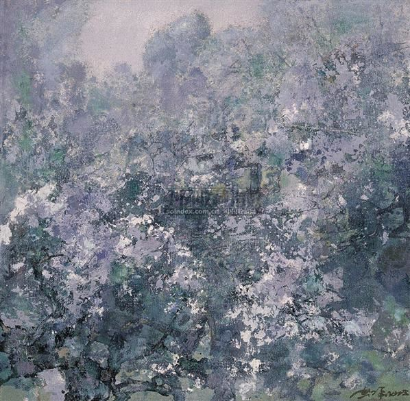 洪凌 薄雾春花 布面油画 - 133228 - 中国油画 - 2006秋季艺术品拍卖会 -收藏网