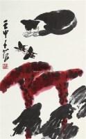 耄耋图 画心 设色纸本 - 崔子范 - 中国书画一 - 2011春季艺术品拍卖会 -收藏网