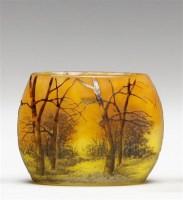杜姆兄弟 冬景图案花瓶 -  - 装饰美术 - 2011秋季伊斯特香港拍卖会 -收藏网