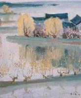 丝绸之乡 布上油画 - 苏天赐 - 油画专场 - 2005春季大型艺术品拍卖会 -收藏网
