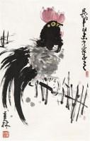 公鸡 立轴 纸本 - 128065 - 中国书画(二) - 2011年春季拍卖会 -收藏网