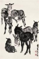 黄胄  七驴图 立轴 - 7693 - 《四妙堂》藏中国近现代书画 - 2007年秋季艺术品拍卖会 -收藏网