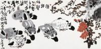 鸽语 镜片 设色纸本 - 127450 - 中国书画 - 2012年迎春艺术品拍卖会 -收藏网