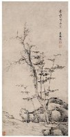枯木竹石 立轴 水墨纸本 - 程嘉燧 - 中国书画(古代)专场 - 2007春季拍卖会 -收藏网