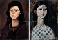 周春芽 1984-1985年作 女人像 - 8738 - 亚洲当代艺术 - 2007春季艺术品拍卖会 -收藏网