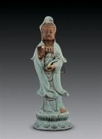 明 龙泉观音大仕像 -  - 瓷器 - 2006秋季艺术品拍卖会 -收藏网