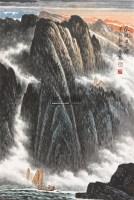 风帆出三峡 立轴 纸本 - 128947 - 保真作品专题 - 2011春季书画拍卖会 -收藏网
