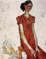 罗尔纯 人物 布面 油画 - 罗尔纯 - 中国当代油画 - 2006首届中国国际艺术品投资与收藏博览会暨专场拍卖会 -收藏网