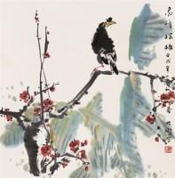 灵峰探梅 立轴 设色纸本 - 竹樵 - 中国书画 - 2007迎春拍卖会 -收藏网