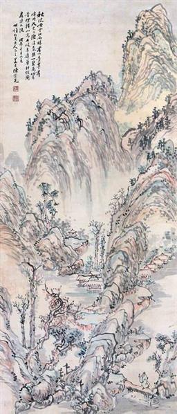 陈崇光 秋风吹云 - 6011 - 中国书画(一)(二) - 华伦伟业 08迎新春书画拍卖会 -收藏网
