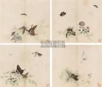 蝴蝶 册页 (四开) 设色纸本 - 王兰若 - 中国近现代书画 - 2006秋季艺术品拍卖会 -收藏网